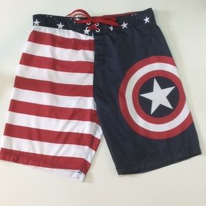 105040c13d Marvel Shorts | Captain America Mens Swim Size Xl | Poshmark
